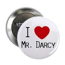 """I :heart: Mr. Darcy 2.25"""" Button (10 pack)"""