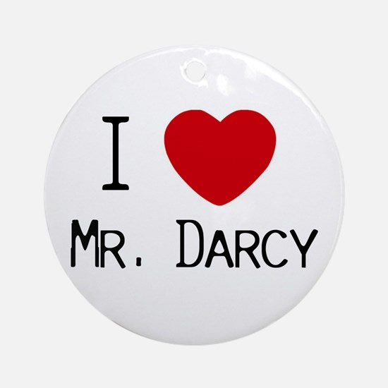 I :heart: Mr. Darcy Ornament (Round)