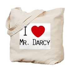 I :heart: Mr. Darcy Tote Bag