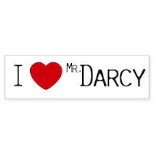 I :heart: Mr. Darcy Bumper Car Sticker