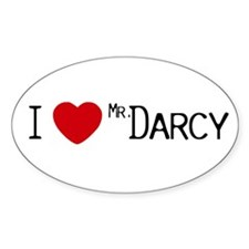 I :heart: Mr. Darcy Oval Decal