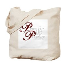 Pride and Prejudice (With Quote) Tote Bag