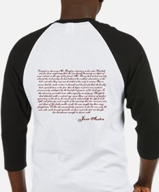 Pride and Prejudice (With Quote) Baseball Jersey
