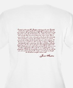 Pride and Prejudice (With Quote)Plus Size V-Neck T