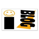 Blog Happy Rectangle Sticker