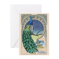 Pavo the Peacock blank Greeting Card