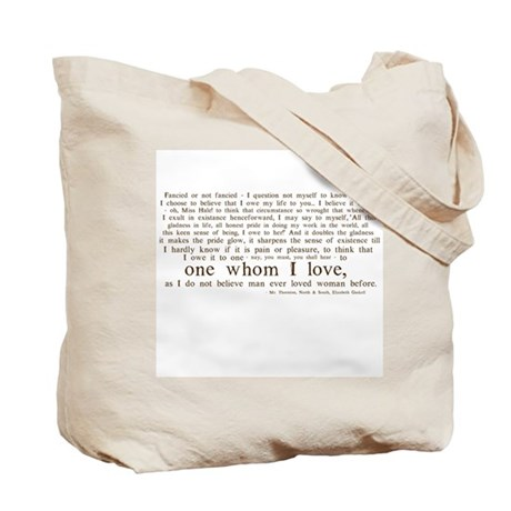 North & South (With Quote) Tote Bag