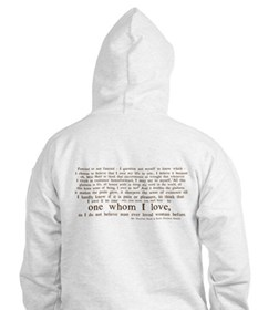 North & South (With Quote) Hoodie Sweatshirt