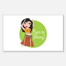 Born to Shimmy! Rectangle Sticker 50 pk)