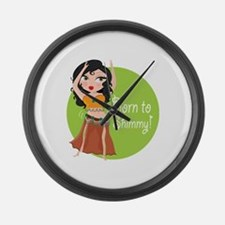 Born to Shimmy! Large Wall Clock