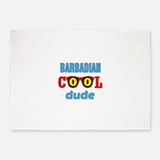 Barbadian Cool Dude 5'x7'Area Rug