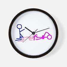 Stick figure 1 Wall Clock