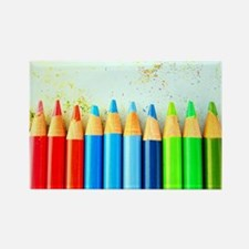 Colored Pencils Rectangle Magnet (100 pack)