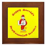 Happy Harold Framed Tile