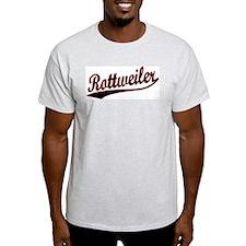Rottweiler Varsity Ash Grey T-Shirt
