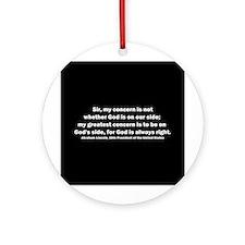 Abraham Lincoln Quote Ornament (Round)