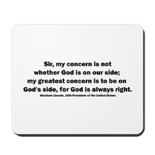 Abraham Lincoln Quote Mousepad