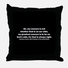 Abraham Lincoln Quote Throw Pillow