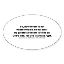 Abraham Lincoln Quote Oval Decal