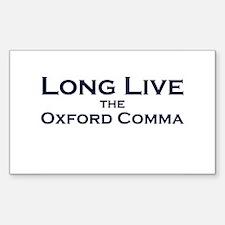 Oxford Comma Rectangle Sticker 10 pk)