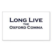 Oxford Comma Rectangle Decal