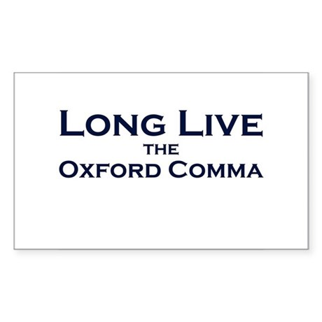 Oxford Comma Rectangle Sticker
