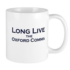 Oxford Comma Small Mugs