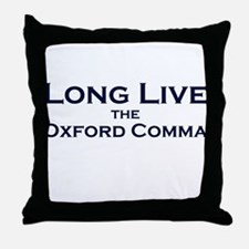 Oxford Comma Throw Pillow