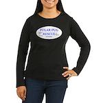 Polar Pug Rescue Logo Women's Long Sleeve Dark T-S