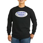 Polar Pug Rescue Logo Long Sleeve Dark T-Shirt