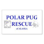Polar Pug Rescue Logo Rectangle Sticker