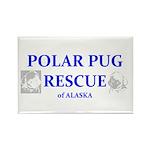 Polar Pug Rescue Logo Rectangle Magnet (100 pack)