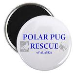 "Polar Pug Rescue Logo 2.25"" Magnet (100 pack)"