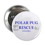 """Polar Pug Rescue Logo 2.25"""" Button (100 pack)"""