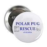 """Polar Pug Rescue Logo 2.25"""" Button"""