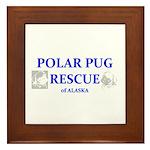 Polar Pug Rescue Logo Framed Tile
