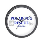Polar Pug Rescue Logo Wall Clock
