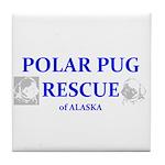Polar Pug Rescue Logo Tile Coaster