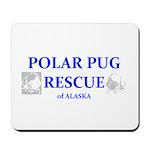 Polar Pug Rescue Logo Mousepad