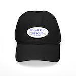 Polar Pug Rescue Logo Black Cap
