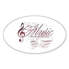 Music Version Three Oval Decal