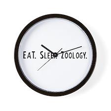 Eat, Sleep, Zoology Wall Clock