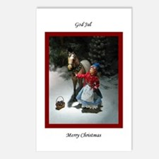 Child & Horse God Jul Postcards (Pkg of 8)