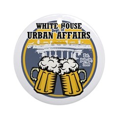 White House Beer Ornament (Round)