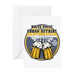 White House Beer Greeting Card