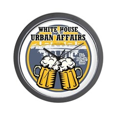 White House Beer Wall Clock