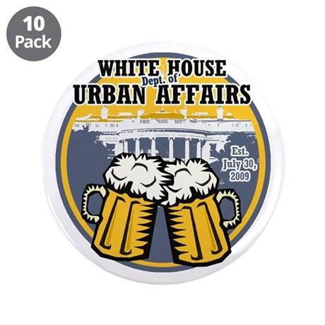 """White House Beer 3.5"""" Button (10 pack)"""