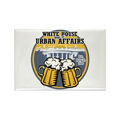 White House Beer Rectangle Magnet (10 pack)