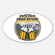 White House Beer Oval Decal