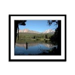 Manzanita Lake, Lassen CA. Framed Panel Print